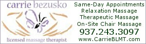 Carrie Bezusko, Licensed Massage Therapist
